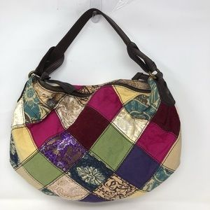 Lucky brand suitable for framing Patchwork hobo